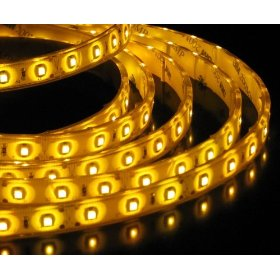 16.4 Feet 300 SMD LED Flexible Strip with Waterproof Sleeve,12 Volt Yellow LED Ribbon 5 Meter Reel,3528Y