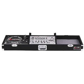 Odyssey CDJ19R Carpeted Dj Coffin With Recessed Latches For A 19 Mixer And 2 Turntables In Standard Position