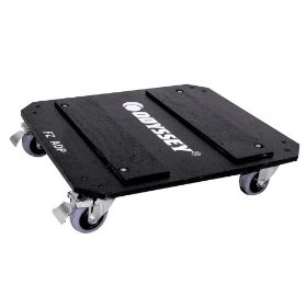 Odyssey FZADP Dolly Plate With Four Swivel Casters, Two With Brakes, For Flight Zone Amp Racks