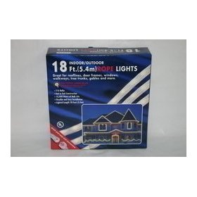 Christmas Decorations rope light 18' clear