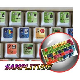 SAMPLITUDE KEYBOARD STICKERS FOR DESKTOP, LAPTOP AND NOTEBOOK