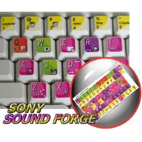 SONY SOUND FORGE KEYBOARD STICKER FOR DESKTOP, LAPTOP AND NOTEBOOK