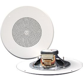 Pure Resonance Audio 815WT-GS 8 Inch Ceiling Speaker Full Range 2 Way Loudspeaker 70 Volt Transformer