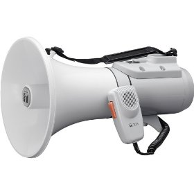 TOA ER-2215 Shoulder Megaphone Detachable Hand-Held Mic with Volume Control and OnOff Switch