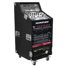 Marathon Flight Ready Case MA-Cws16W Holds 4U Top, 8U MIDdle, 16U Bottom with Casters