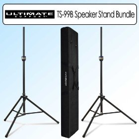 Ultimate Support TS-99B Tall Speaker Stand and Lighting Tree Base Bundle