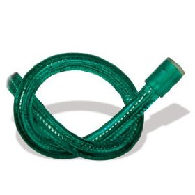 10 foot section of green 12 volt 1/2 inch rope light