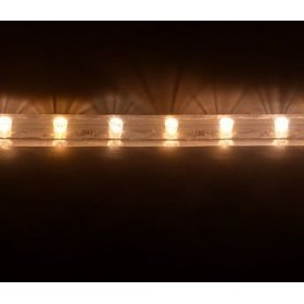 10 foot section of warm white 12 volt 1/2 inch led rope light