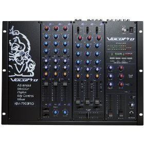 VocoPro  KJM-7900PLUS 9 Channel Pro KJ/DJ Mixer with Digital Key Control and Effects Send/Return