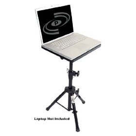 Pyle-Pro - Pro   DJ Laptop Tripod Adjustable Stand For Notebook Computer