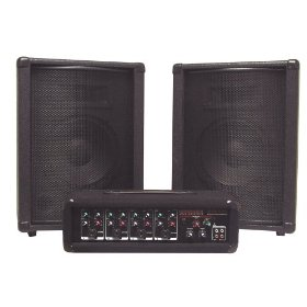 Nady MPM-4130 PA210 PA System with 4 Channel Powered Mixer and Two 10 Inch Speakers