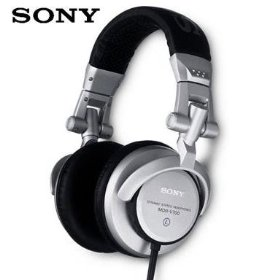 Sony Studio Monitor Style - Professional DJ Stereo Headphones with 3000 mW Power Handling & Swivel/Reversible Ear-cups