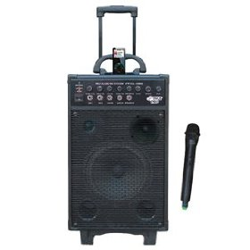 Pyle-Pro PWMA1080I 800-Watt VHF Wireless Portable PA System/Echo with iPod Dock