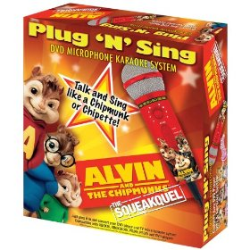 Emerson MM208A Alvin & The Chipmunks Plug N Sing Microphone with 30 Songs on DVD