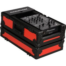 Marathon Flight Ready Blk Series Case MA-10Mixblkred - Black Series - 10-Inch DJ Mixer Case Fits Large Format 10-Inch Size Mixers (Red)