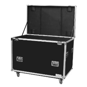 Marathon Flight Ready Case MA-Tut50W Utility Trunk Case - Interior Recessed Hardware, Foam Lined Interior, with Casters - 1/2 Inch Plywood