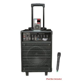 Pyle-Pro - 600 Watts VHF Wireless Portable PA System w/Microphone,i-Pod Dock & Bluetooth