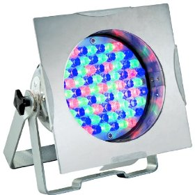 American DJ 38P LED Pro Polished Par 38 LED RGB Color Mixing Par Can