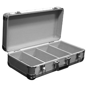 Marathon Elight Series MA-ECD4 Sil CD Case 4 Row Holds Up To 100 Jewel Cases & Up To 200 Plastic Sleeves: Silver