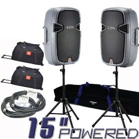 2 JBL EON515 Powered Speakers Bundle