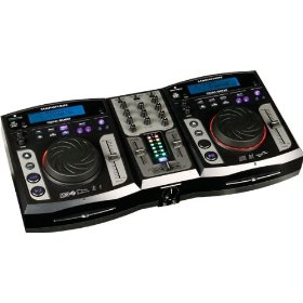 Marathon Dcm-5000 All In One Dual CD Player Mixer System, MP3 ID Tag Folder Search, Scratch, Brake, Reverse, Dual USB/Dual SD, Anti Shock