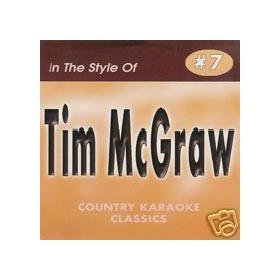 TIM MCGRAW Country Karaoke Classic CDG Music CD