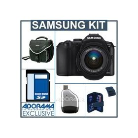 Samsung NX10 AF DSLR Digital Camera with 18-55mm Zoom Lens Kit, 4GB SD Memory Card, Slinger Camera Bag, USB 2.0 SD Card Reader, Memory Card Holder(4)
