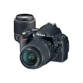 Nikon D40 6.1 Megapixel Digital SLR Camera Two Lens Kit, with 18-55mm f/3.5-5.6G ED II AF-S DX & 55mm - 200mm