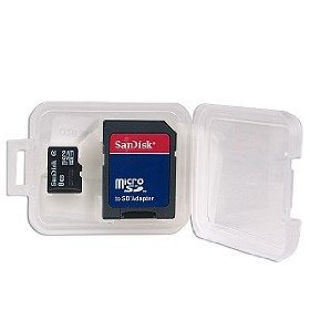 SanDisk 8GB microSDHC (SDSDQ-8192) Memory Card w/Adapter (Bulk Package)