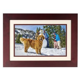 HP DF1130A1 11.3-Inch Digital Picture Frame (Mahogany Wood Double Mats)