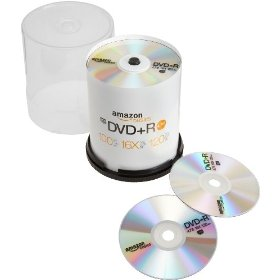 AmazonBasics 4.7 GB 16x DVD+R (100-Pack Spindle)