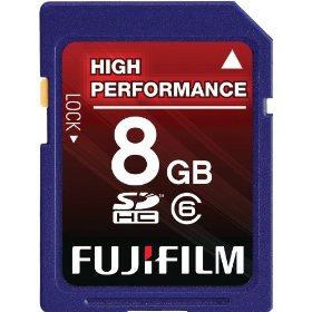 Fujifilm 8 GB Secure Digital High Capacity (SDHC) Class 6 Flash Memory Card