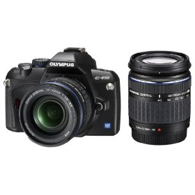Olympus E-450 Digital SLR Camera Twin Kit (14-42mm & 40-150mm)