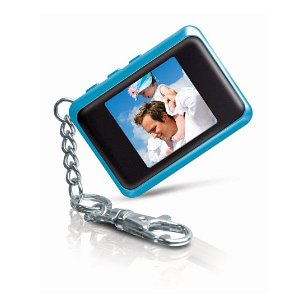 Coby 1.5-Inch Digital Photo Key Chain (Blue)