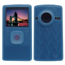 Light Blue Premium Soft Silicone Skin Case for Flip Ultra HD Camcorder