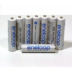 Sanyo Eneloop 8 Pack AAA NiMH Pre-Charged Rechargeable Batteries