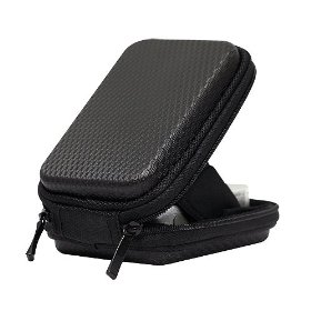 CaseCrown Hard Cover Foam Padded Camera Case (Black) for the Canon PowerShot SX210IS 14.1 MP Digital Camera