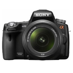 Sony Alpha SLTA33L DSLR with Translucent Mirror Technology (Black)