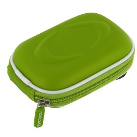 Hard Shell Carrying Case (EVA Candy Green) for Nikon Coolpix S3000 12 MP Digital Camera Black