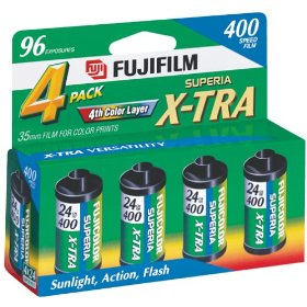 Fujifilm 1014258 Superia X-TRA 400 35mm Film -4 Pack