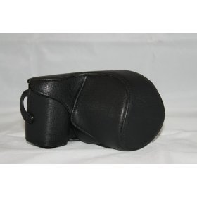 Leather Camera Case For Sony NEX-5 E 18-55mm or F3,5-5,6 (Black)