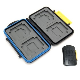 Professional Rubber sealed & water proof Memory Card Case for 4 PCS Compact Flash (CF) & 4 PCS SD and 4 pcs Olympus Xd cards and 4 pcs Sony Memory Stick Pro Duo