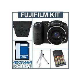 Fujifilm FinePix S2550 Digital Camera Kit - Black - With 8GB SD Memory Card, Camera Case, Table Top Tripod, 4 NiMH Batteries, Charger