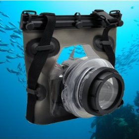 Opteka Underwater Case/Housing for Canon EOS 1D, 5D, 7D, 10D, 20D, 30D, 40D, 50D, 60D, Rebel XT, XTi, XS, XSi, T1i & T2i Digital SLR Cameras