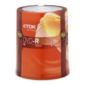 TDK  4.7GB 16x DVD-R (100-Pack Spindle)