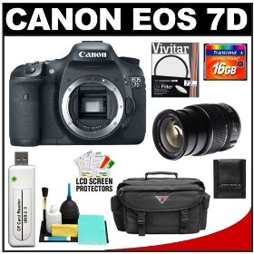 Canon EOS 7D Digital SLR Camera Body & EF-S 15-85mm Lens with 16GB Card + UV Filter + Case & Accessory Kit