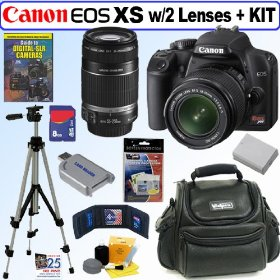 Canon Rebel XS 10.1MP Digital SLR Camera (Black) with EF-S 18-55mm f/3.5-5.6