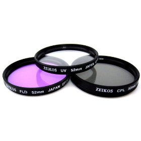 Zeikos ZE-FLK52 52mm Multi-Coated 3 Piece Filter Kit (UV-CPL-FLD)