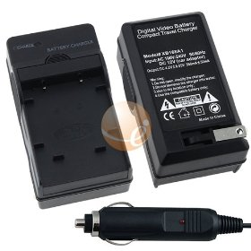 Fuji NP-45 AC / DC Replacement Battery Charger Set for Fuji FinePix Z100FD / Z10FD / Z200FD / Z20fd / Z30 / Z300 / Z33 / Z33WP / Z37 / Z70 / Z700EXR SLR Camera