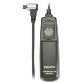 Canon RS-80N3 Remote Switch for EOS-1V/1VHS, EOS-3, EOS-D2000, D30, D60, 1D, 1Ds, EOS-1D Mark II,III, EOS-1Ds Mark II,III, EOS-10D, 20D, 30D,40D, 50D, 5D